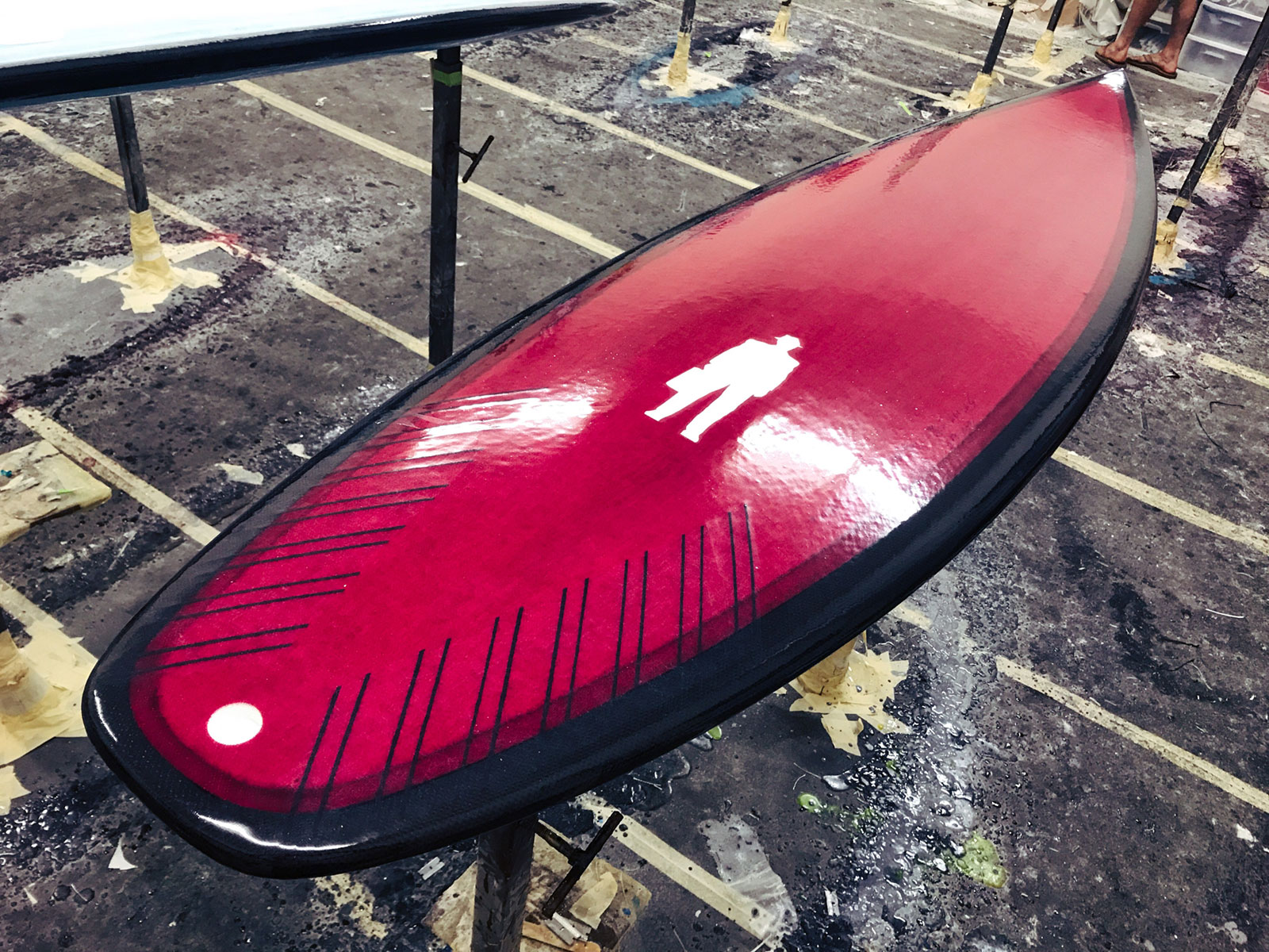 Magenta Cherry tint on a Carbon Rail epoxy