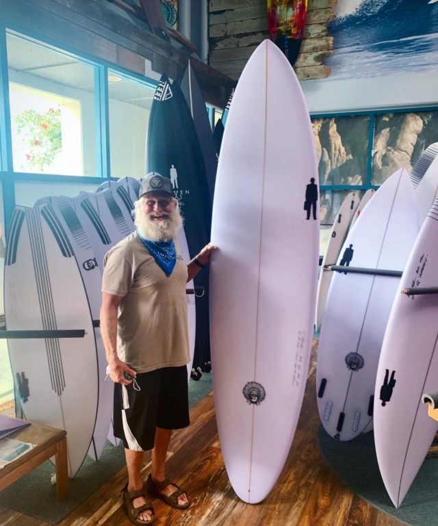 """Our kind...of people: """"Hey Todd, I need a step-up to my 7'0"""" for those big swell days at C-Street when there's all that current, so I can sit out the back and catch the sets. Maybe a fuller nose and a narrower, thinned out tail so I can get a lot of bite on my bottom turns and hold a nice long clean arc on the open face."""" - Bob 8'0"""" x 23"""" x 3 1/4"""" 65L #Bullpinsurfboard ...here ya go Bob, see you out there yew!!  #powertothepeople #saltoftheearth #informedconsent #myboardmychoice"""