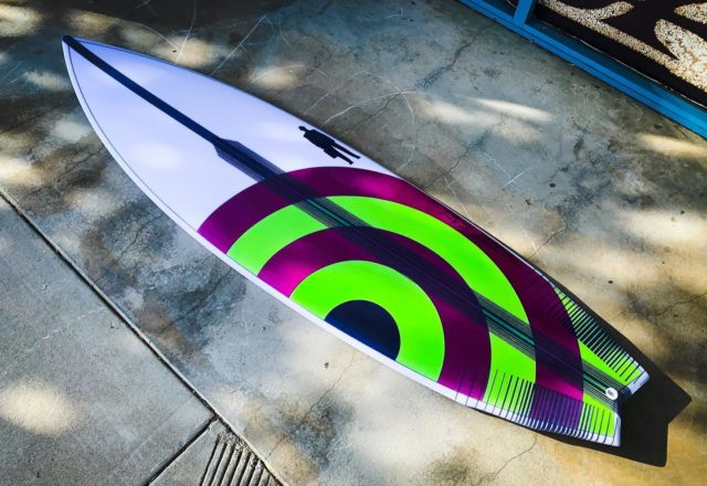 """Andrew's 6'1"""" x 19 7/8"""" x 2 3/4"""" 34L #Falconv2surfboard in teamlite epoxy with high density foam stringer. Andrew is 48, 5'10"""", 200lbs. great surfer from South Africa now living in Cali."""