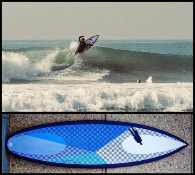 """This is Kingston from Newport. Kingston is 19, 6'1"""", 165lbs. He says about his 5'11"""" x 19"""" x 2 3/8"""" 27.7L #Monstajet thumbtail #carbonfootprintsurfboard #titanium2surfboard : """"It's my favorite, best board I've ever had, thank you so much."""" #worldwidecustom #equippingyouforthejourney #everysurferhasastory #surferfeedback"""